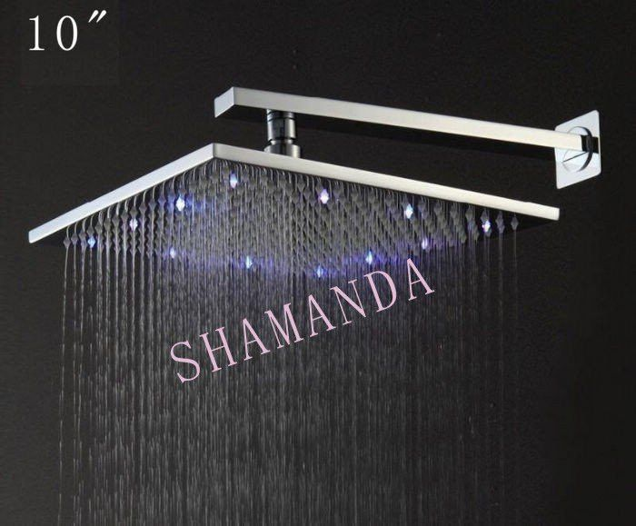 Type: Fixed Support Type Brand Name: Shamanda Shower Head Feature: Rainfall Shower Heads Surface Finishing: Chrome Material: Brass Accessories: Shower Heads Shower shape: Square Installation Type: Wal