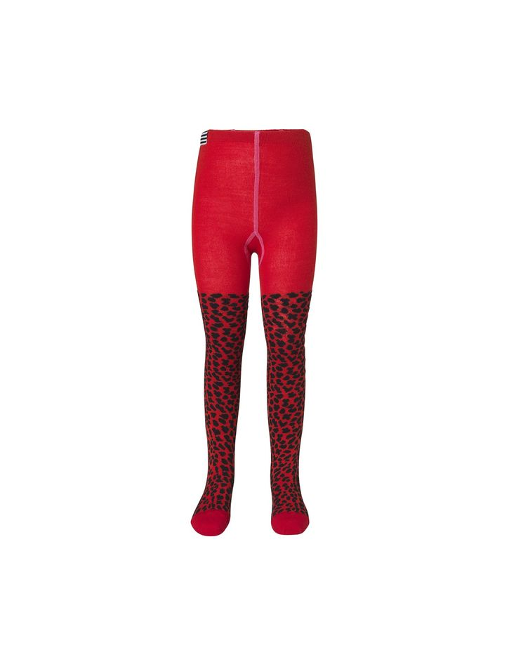 Animal Wool Tights, Red