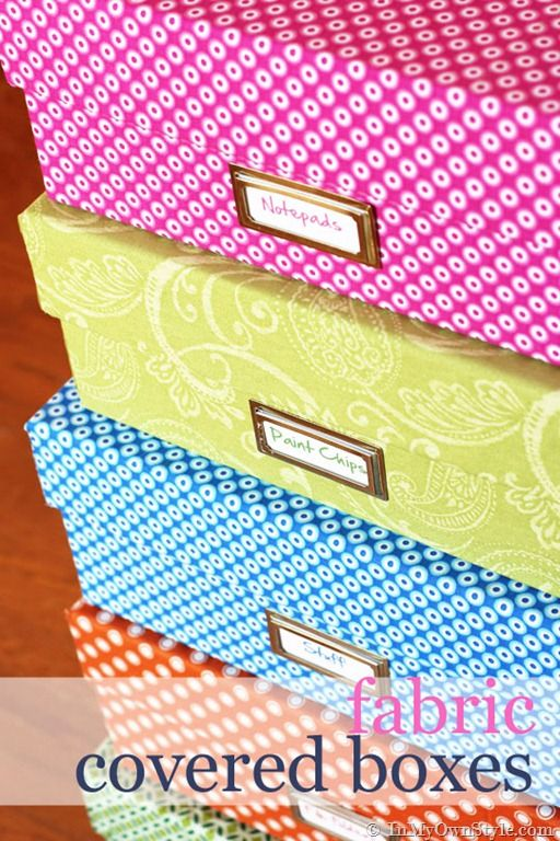 Fabric Covered Box Tutorial {InMyOwnStyle.com}  For pretty storage or to wrap a gift box