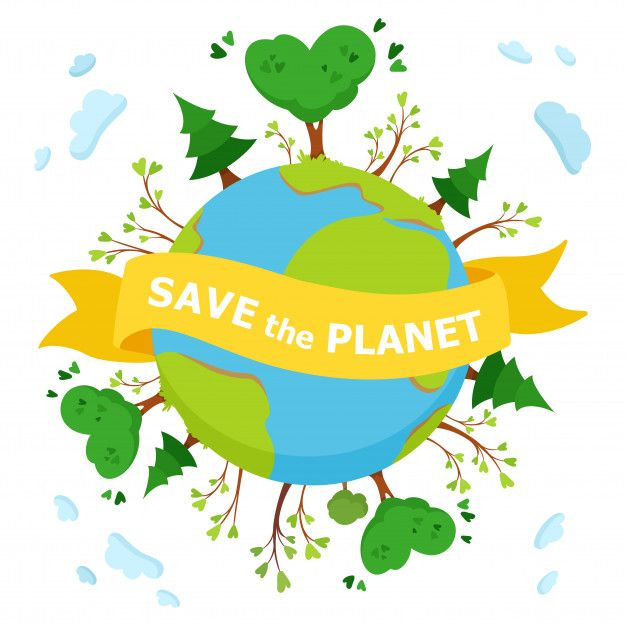 Save The Planet Vintage Ribbon Banner Save The Planet Environmental Posters
