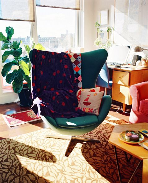 Jen Mankins for Brooklyn Magazine Issue IGraphic Design, Vintage Chairs, Eggs Chairs, Art Lifestyle, Design Interiors, Graphics Design, Interiors Art, Fashion Photography, Lifestyle Inspiration