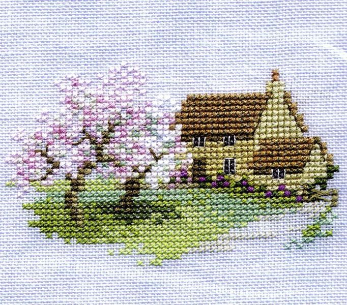 Orchard Cottage - cross-stitch kit by Rose Swalwell