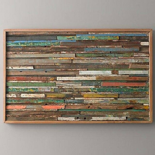 Wall decoration  Material from recycle boat wood