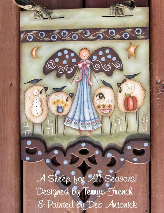 EPattern A Sheep for all Seasons by PaintingwithDeb on Etsy, $5.00