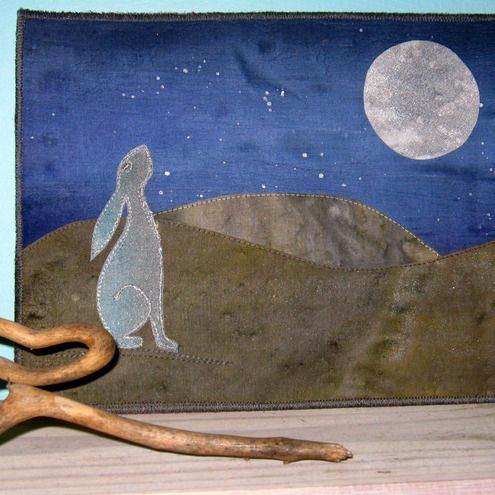 Moon gazing hare quilt kit