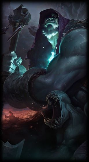League of Legends- Yorick, the Shepherd of Lost Souls; Reminds me of Gul'dan from World of Warcraft