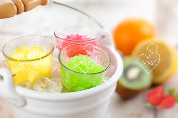 granizado de frutas limon o fresa o kiwi