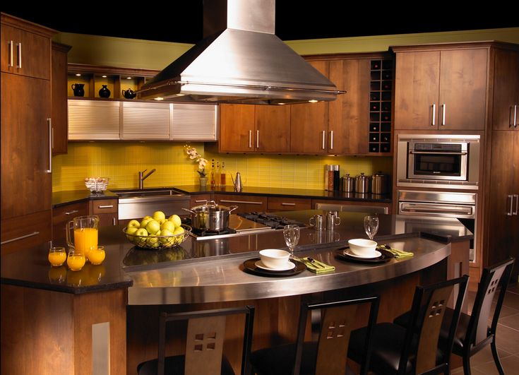 My Dream Kitchen Countertops : Stainless steel countertop cabinets island so neat