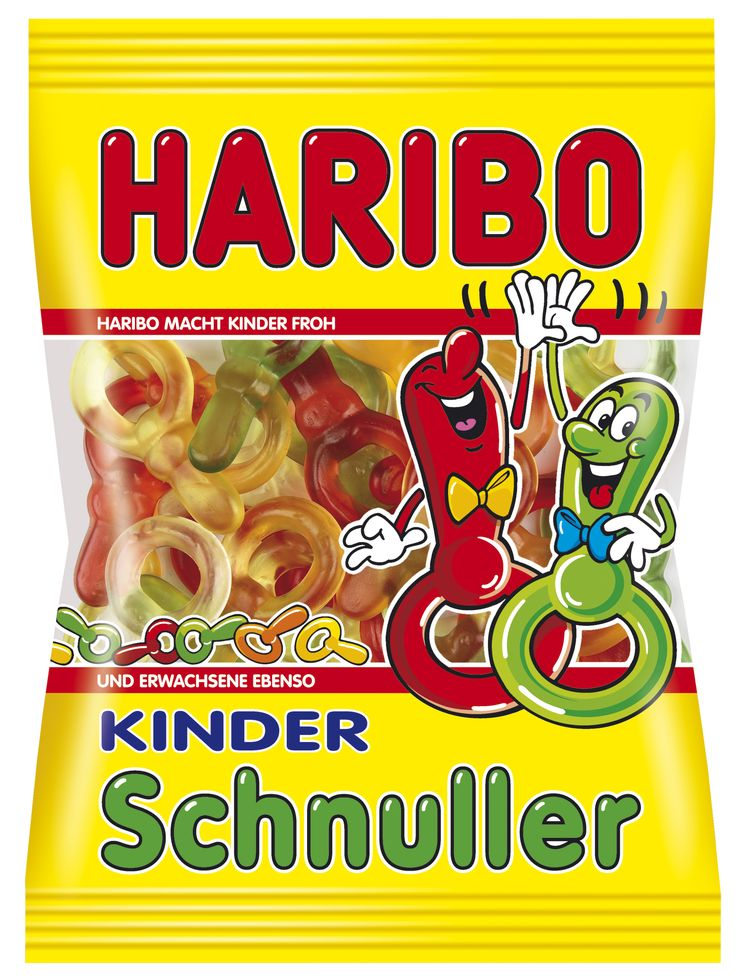 Ein Klassiker unter den HARIBO-Produkten – KINDER Schnuller gibt es in den lecker-fruchtigen Geschmacksrichtungen Ananas, Erdbeere, Himbeere, Saftorange und Zitrone.