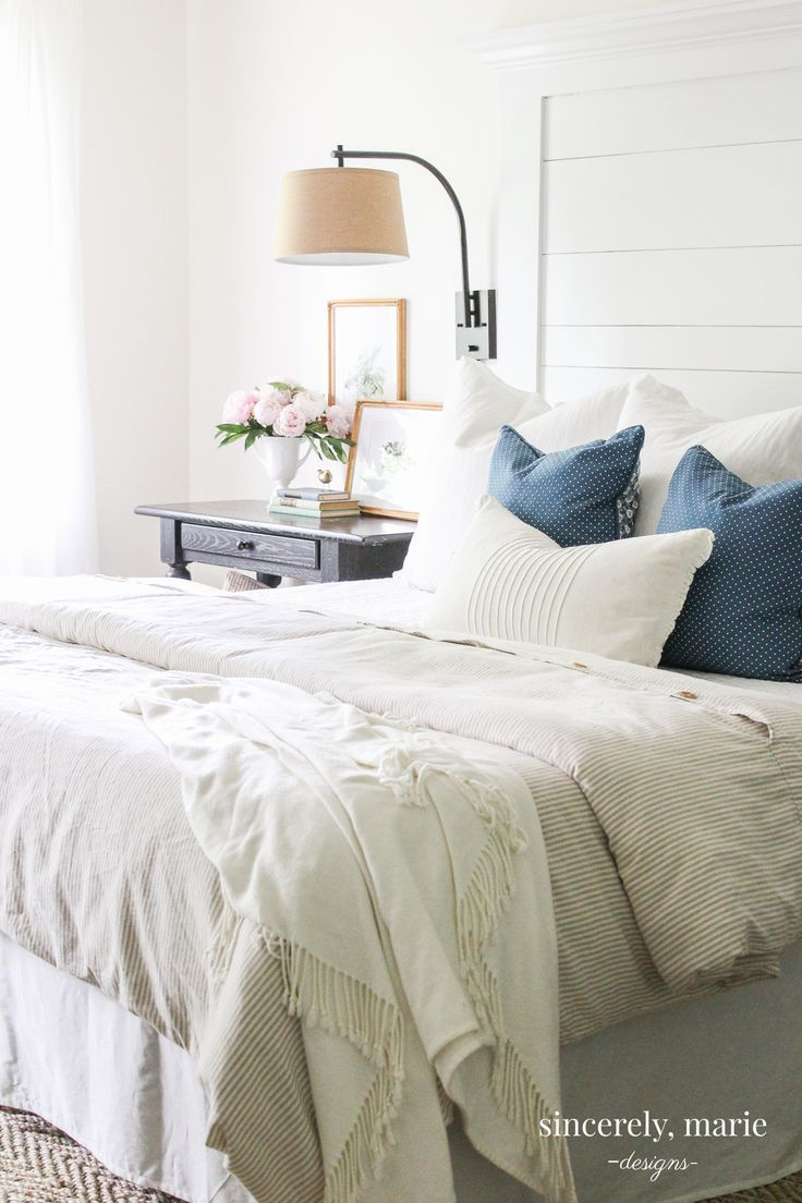 3 Ways To Create A Light Airy Bedroom Sincerely Marie Designs Airy Bedroom Light Airy Bedroom Home Decor
