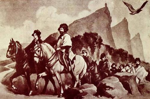 On July 31, 1849 Giuseppe and Anita Garibaldi refuged in San Marino during their flight from Rome occupied by the French who crushed the Roman Republic in the blood.