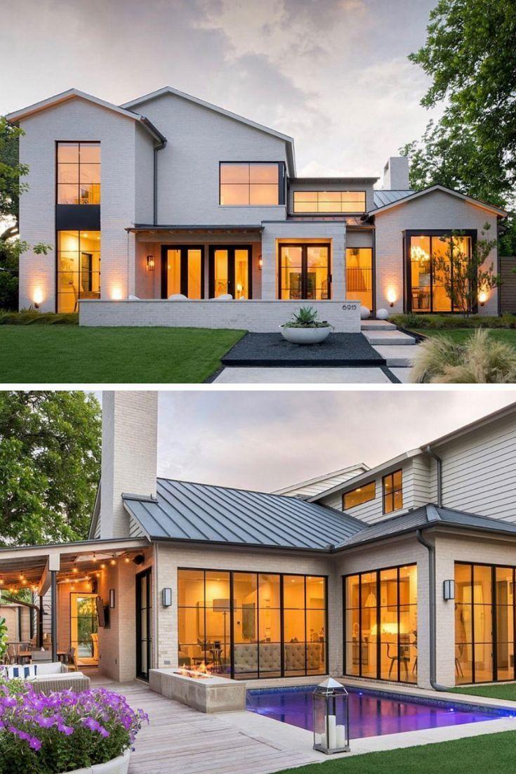 27 Modern Farmhouse Exterior Design Ideas For Stylish But Simple Look Casas Estilo Vi In 2020 Modern Farmhouse Exterior House Designs Exterior Modern House Exterior