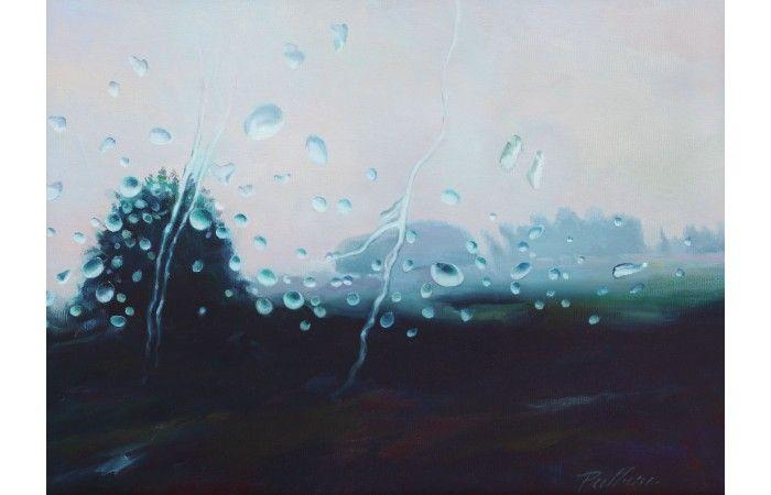 Radu Pulbere Rain  [2014]  Oil on canvas 30 × 40.5 cm (11.8 × 15.9 inch) Estimate €600 - €900  http://lavacow.com/rain.html