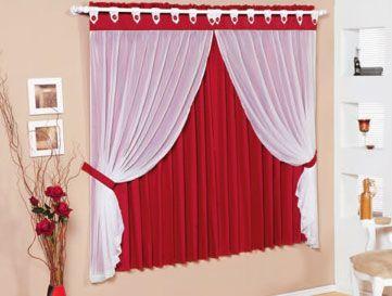 cortinas para quarto de casal vermelha 1