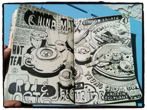 Graham Smith Illustration Blog: Restaurant Sketchbook