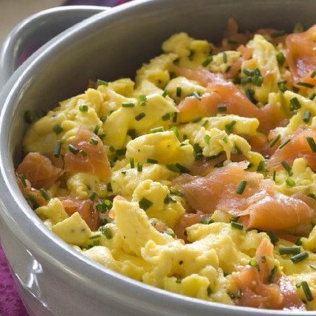 scrambled eggs with prosciutto more scrambled eggs bright color ...