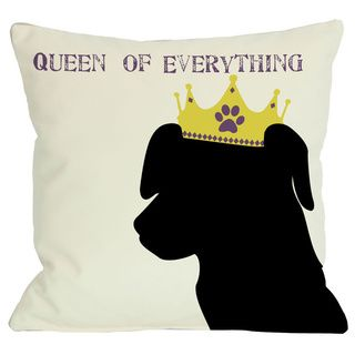 @Overstock - Queen of Everything Lab Throw Pillow - Add a great conversation piece with bright and fun throw pillows that will surely liven up any space!  http://www.overstock.com/Home-Garden/Queen-of-Everything-Lab-Throw-Pillow/8441598/product.html?CID=214117 $29.99