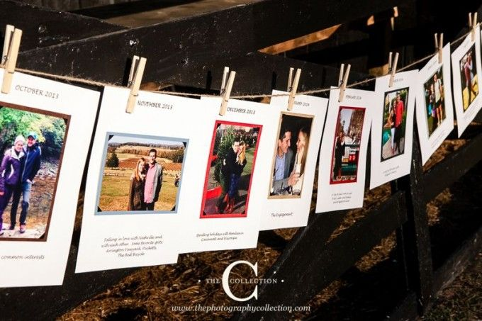 Share your love with your guests! Adore this relationship timeline a way to really personalize your day! #cedarwoodweddings Highland Hues :: Abigail+Ricky | Cedarwood Weddings