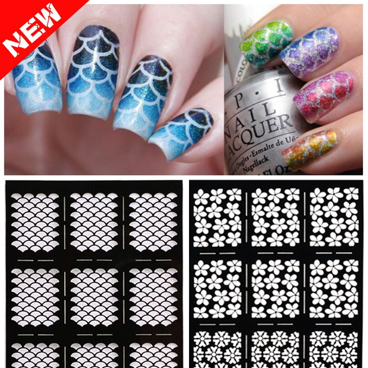 Cheap nail sticker art, Buy Quality sticker transfer directly from China nail tip storage box Suppliers:    2016 New 1sheet Hollow Nail Art Stamping Template Stickers Reusable Stamp Stencil Guide DIY Nail Decal Decoration Too