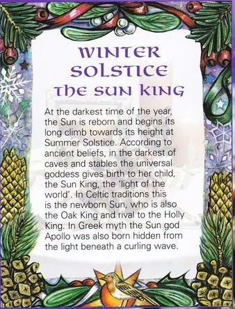 Winter Solstice - birth of the Sun King                                                                                                                                                                                 More