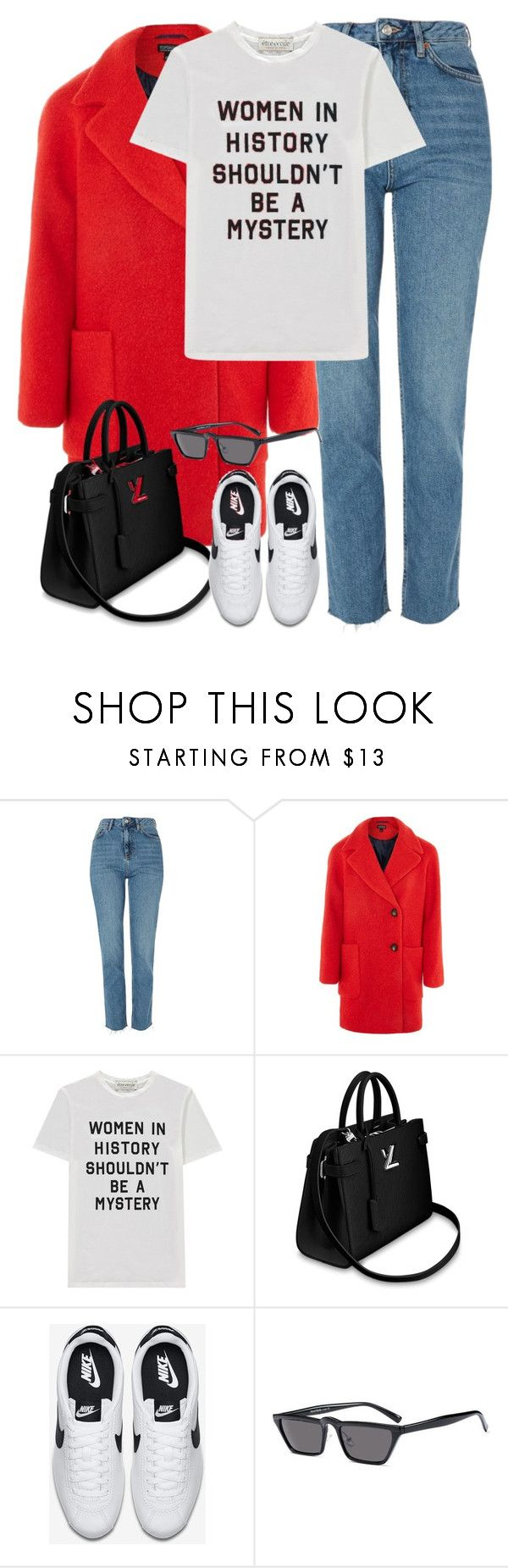 """""""Untitled #3329"""" by elenaday ❤ liked on Polyvore featuring Topshop, Être Cécile and NIKE"""