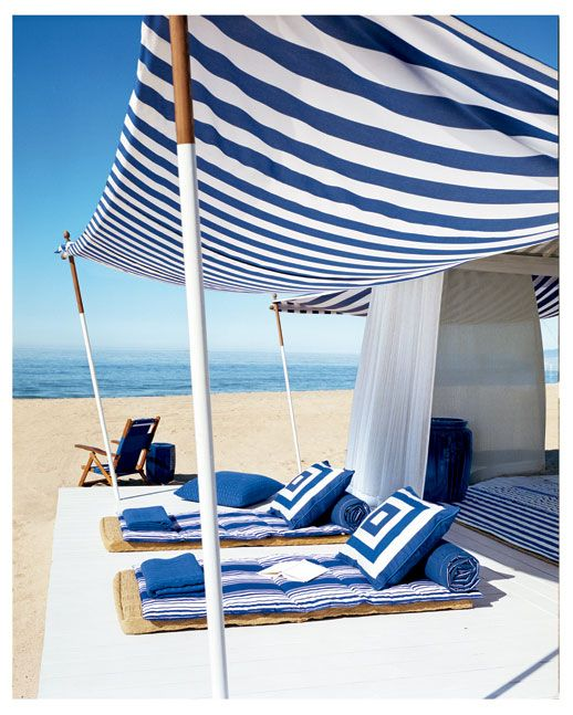 RL Bold Navy & White Beach Cabana, 2006.