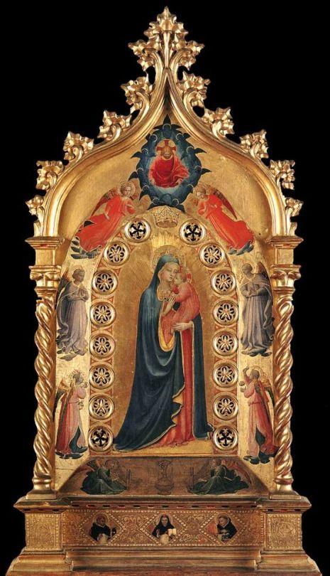 Fra Angelico - Madonna of the Star, 1424  Tempera and gold on panel, 84 x 51 cm