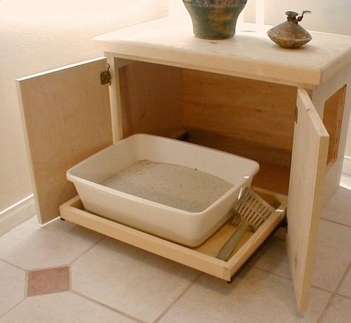 30 best hidden litter box images on pinterest hidden for Furniture box