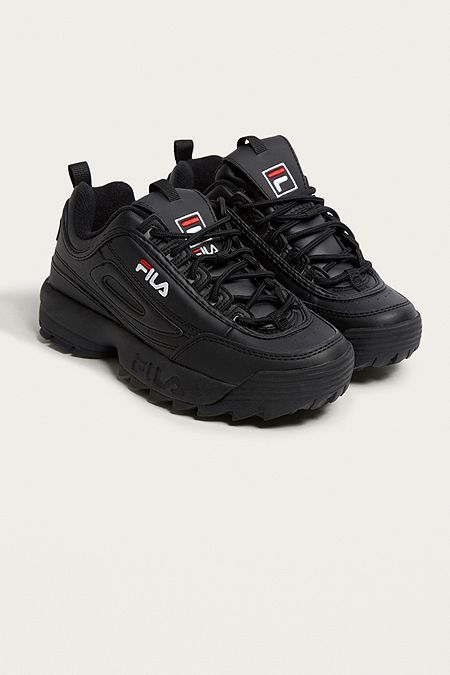 6dcd89b6932 FILA Disruptor Black Trainers. kinda thinking of going down this route  again since the last century