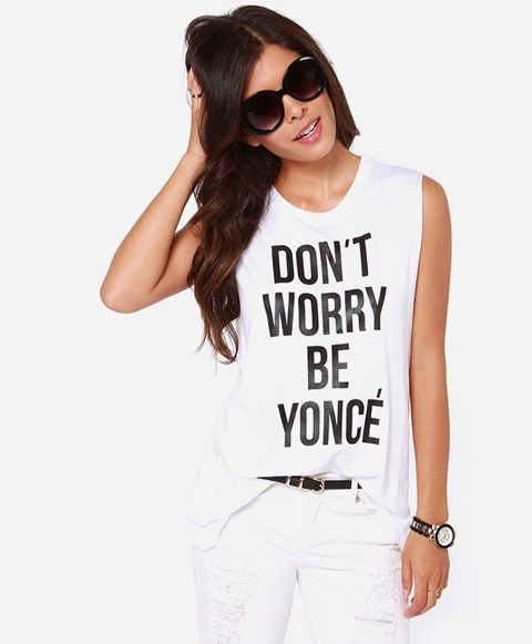 Don't Worry Be Yonce Beyonce T-Shirt - $8.99. https://www.bellechic.com/deals/eb5cd9cf5afa/don-t-worry-be-yonce-beyonce-t-shirt