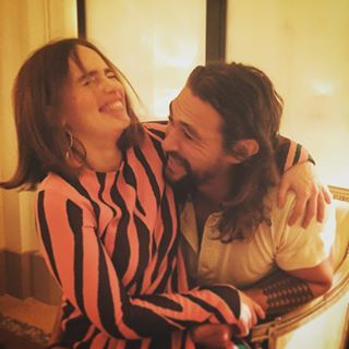 "Emilia Clarke And Jason Momoa Had The Cutest ""Game Of Thrones"" Reunion At Paris Fashion Week"