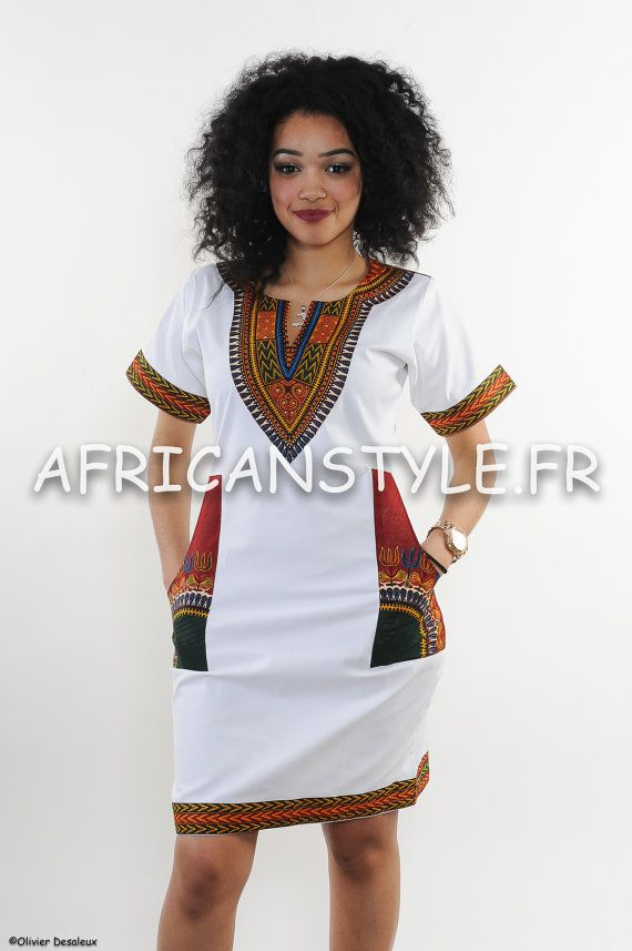 Robe Crayon Blanc wax addis abeba rouge par AfricanStyleAS sur Etsy