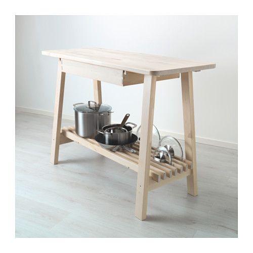 Ikea Norden Kitchen Island: NORRÅKER Sideboard White Birch 120x50 Cm