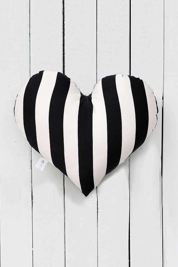 Black and white throw pillow. Chic accent pillow for girls and teen girls room decoration. #blackandwhite