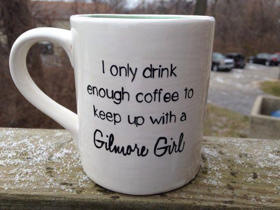 Gilmore girls mug by HandPaintedNerd on Etsy