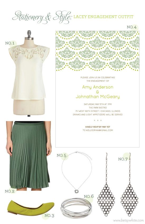 Stationery & Styel: Lacey Bridesmaid Outfit  | Flights of FancyEngagement Outfit