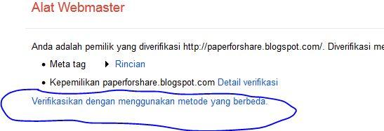 How to Verify a Website or Blog to Google Webmaster Tools   Paper 4Share