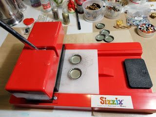 How to use a Sizzix die cutter to create amazing stuff from bottle caps.