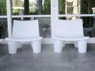 Witte stoel buiten