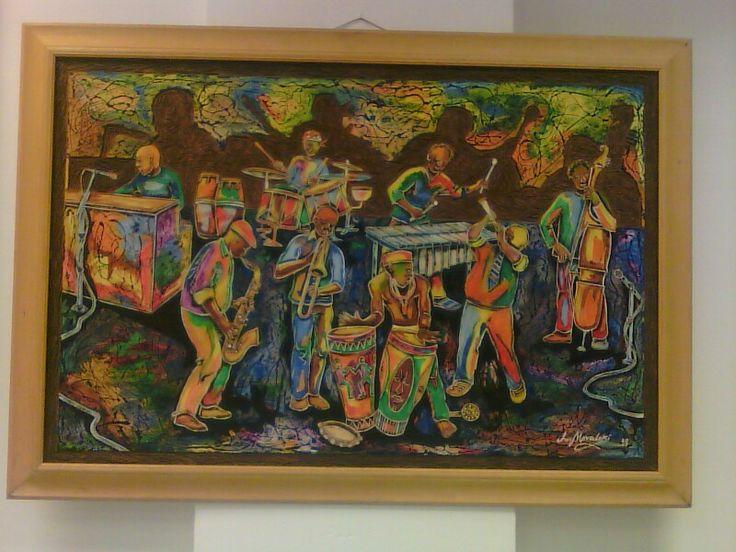 Art on wood from Laubar galliery