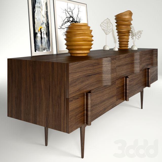 """3d модели: Тумбы, комоды - """"Ondas"""" sideboard+decoration"""