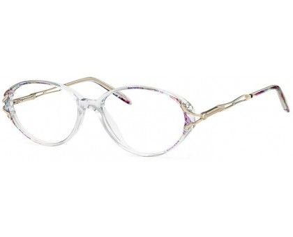 Stylish oval glasses with metallic look. Fun and fashionable! Just $34.50 with prescription lenses and free shipping