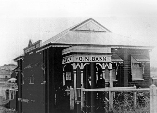Queensland National Bank, corner Edmond and Queen Streets, Marburg, ca. 1912