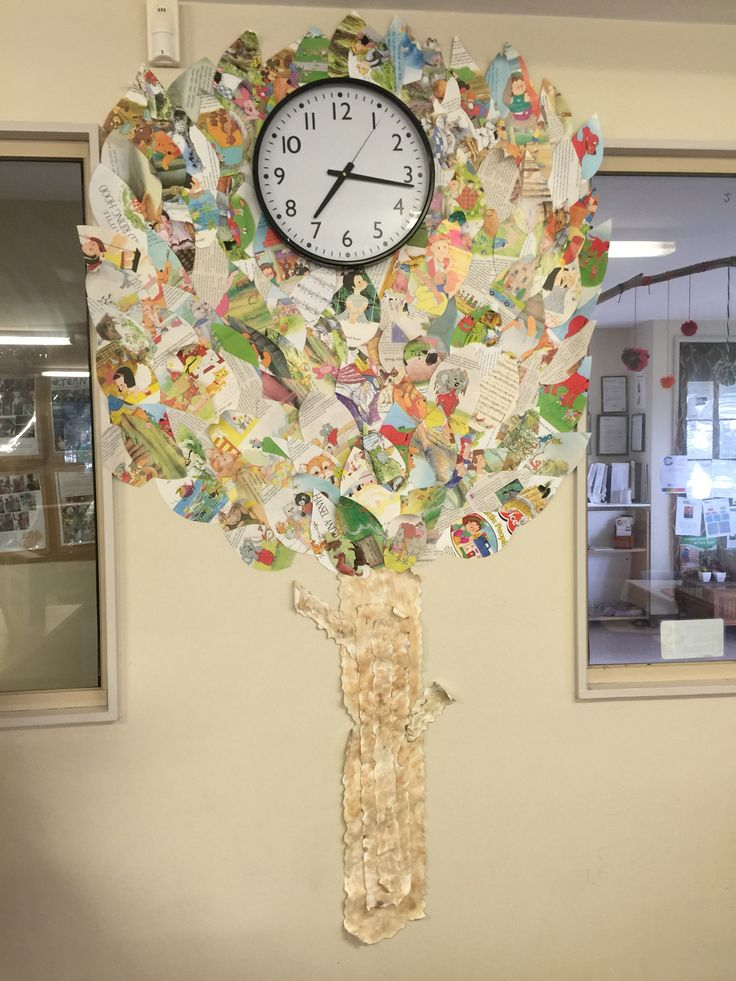 Tree made from old books