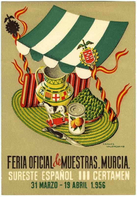 Visor Archivo General Región de Murcia. FOT_POS,06/004 / Postal del cartel de la Feria Oficial de Muestras. 1956