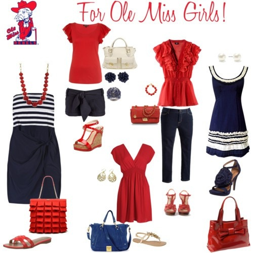 I probably should have went to ole miss.... I love, love, love these colors! And I sound super cute with a souther accent.... :)