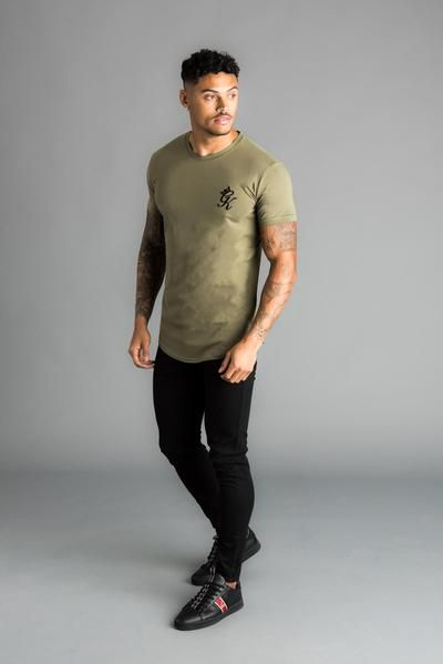840f24ea GK Longline Fitted T-Shirt - Olive in 2019   Shopping   Long a line ...