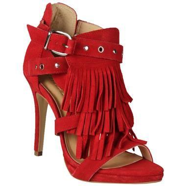 Sandália Colcci com Franjas Vermelha