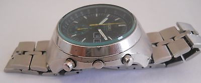 VINTAGE SEIKO HELMET REFERENCE 6139-7100 CHRONOGRAPH AUTOMATIC MENS WATCH 1975