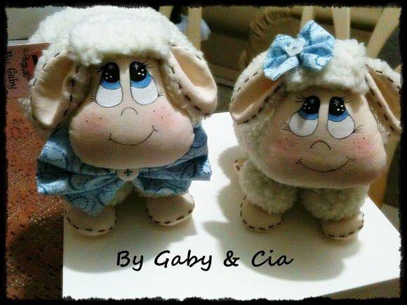Casal de ovelhas by Gabi - Elo 7 - BR$80